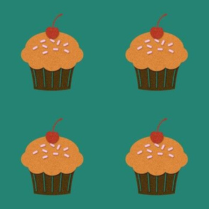 Cupcakes on Green