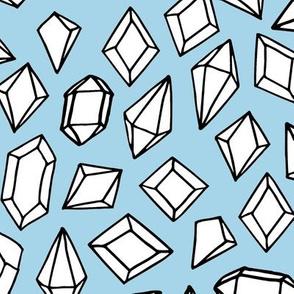 crystals // gems gemstones geodes geodesic andrea lauren fabric crystals