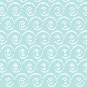 Aqua Indian Swirl