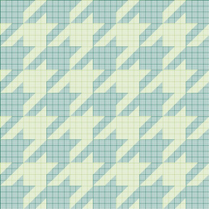 houndstooth graph paper (green)