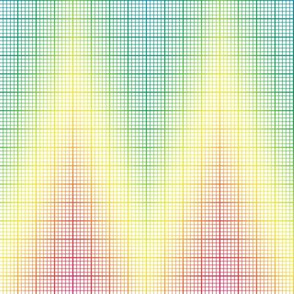 rainbow chevron graph paper