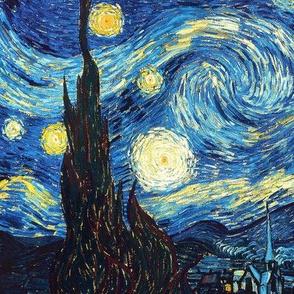 "8x13"" The Starry Night Vincent Van Gogh"