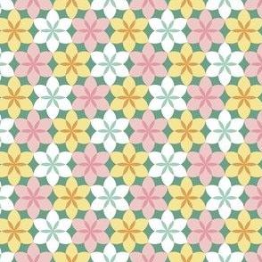 03326097 : circle 6 arc flower x3 : spring