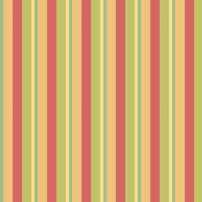 Vintage Ferris Wheel Vertical Stripes