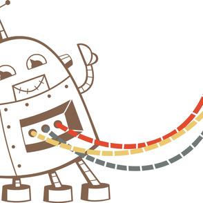 Robot Nursery Decal