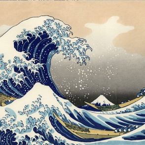 "16"" The Great Wave off Kanagawa Hokusai"