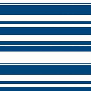Horizontal Navy Stripes
