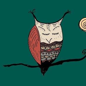 Rustic Henna Owl