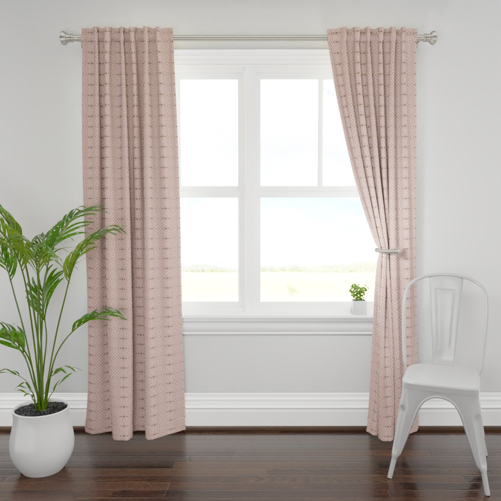 Plymouth Curtain Panel featuring Arrow: rosie by miamaria