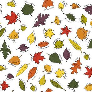 happy leaves, bright sky