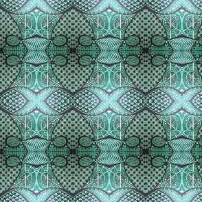 Tri-Color Tangle:   Green