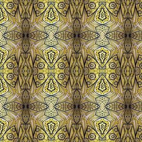 Tri-Color Tangle:   Yellow Star