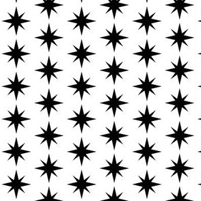 Starburst Black and White