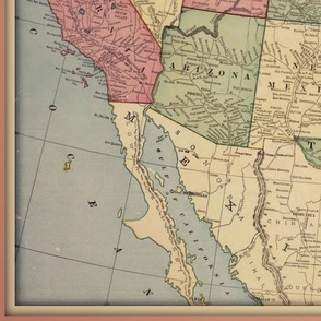 Vintage USA map, large (lower 48)