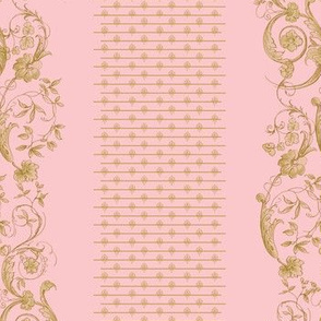 Wildfell Toile ~ Dauphine and Gilt