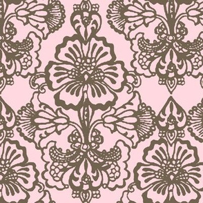 The Cora Damask ~ Love Note & Rocaille