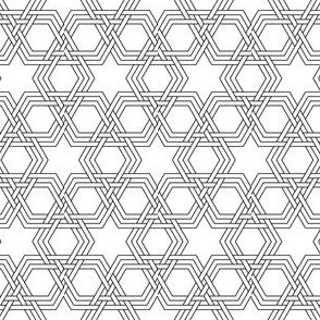 03342606 : hex-tri star weave double