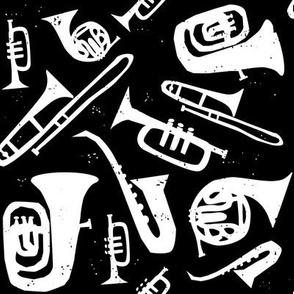 Jazz Print - White on Black