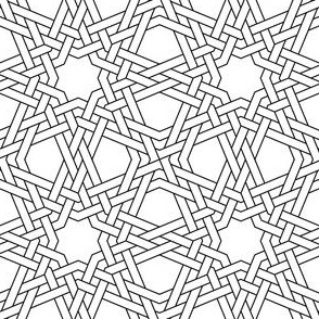 03346345 : octagonal star double-weave