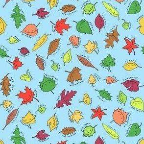 happy leaves, blue sky