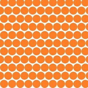 Orange fox beads on white