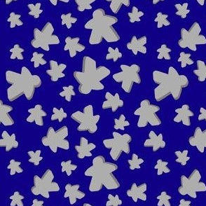 Blue with grey meeples