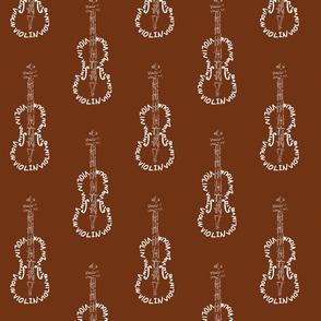 Violin Calligram