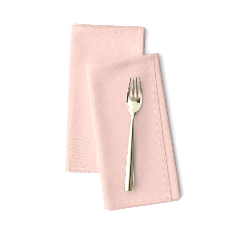Amarela Dinner Napkins featuring pale blush pink solid (FDD9D1) by weavingmajor