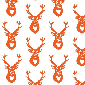 Orange Deer on White