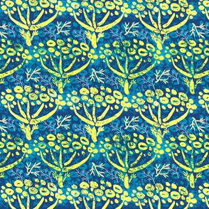 Dill batik (blue) by HelenPDesigns