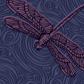 Dragonfly damselfly dragonfly - purple