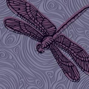 Dragonfly damselfly dragonfly - mauve