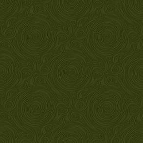 dragonfly spiral - dark green