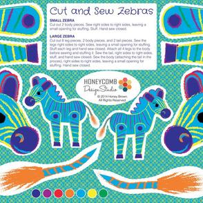 Cut and Sew Zebras - 01