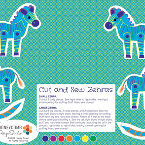 Cut and Sew Zebras - 02