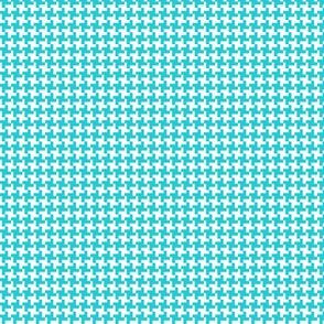 Houndstooth* (Television Blue) || geometric midcentury modern 60s 1960s sixties mod baby nursery kids children