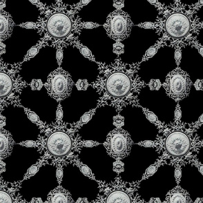 Lace Ceramique ~ Black and White