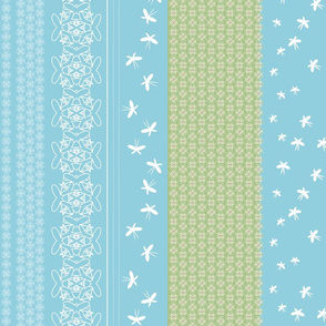 floral butterfly border tif