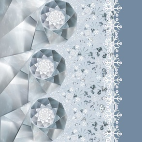 Snowdrift Border Fabric