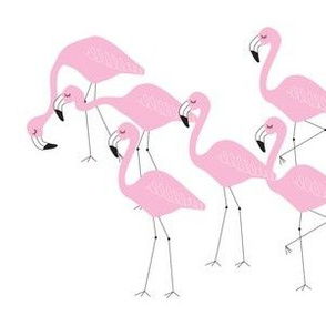 flamingo family group light pink