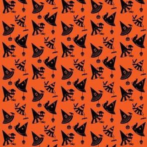 Halloween Hats - orange/black-Small