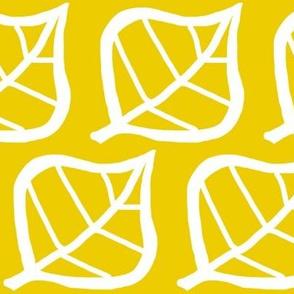 Leaf white on yellow