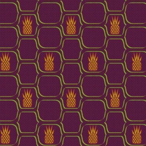 pineapple netting purple gold green