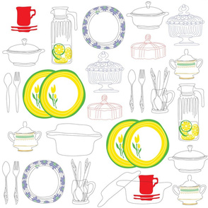 Dishes (Large Print)