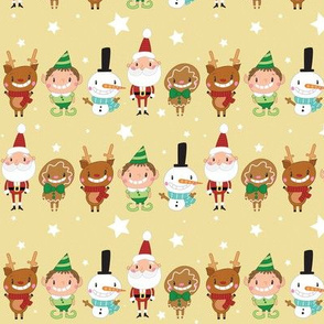 Christmas Crew - Yellow - Line - Medium