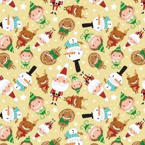 Christmas Crew - Yellow - Scattered - Medium