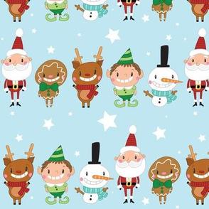 Christmas Crew - Blue - Line - Large