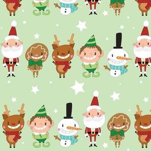 Christmas Crew - Green - Line - Large