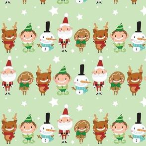 Christmas Crew - Green - Line - Medium
