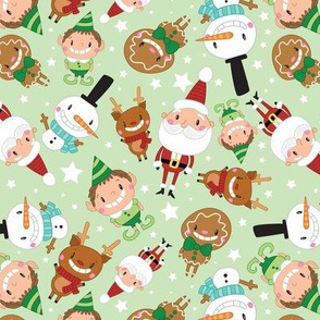 Christmas Crew - Green - Scattered - Large